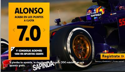 betfair Alonso o Sainz Jr puntuan cuota 7 GP F1 Inglaterra 5 julio