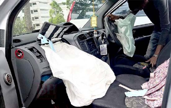 Kanak-Kanak 8 Tahun Maut Terkena Beg Udara Kereta