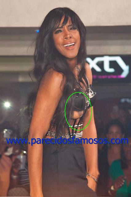 Kelly Rowland descuidos de Famosos