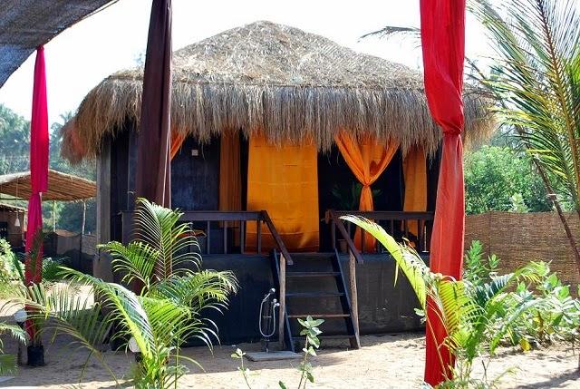 Shanti village houses wonderful beach huts in goa