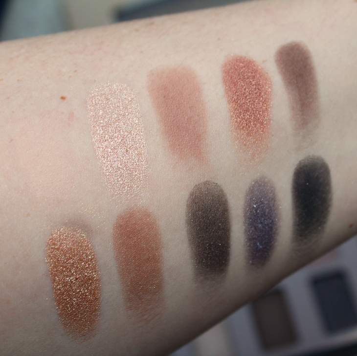 Stila Cosmetics In The Light Eye Shadow Palette beauty makeup gorgeous matte shimmer Kitten swatches