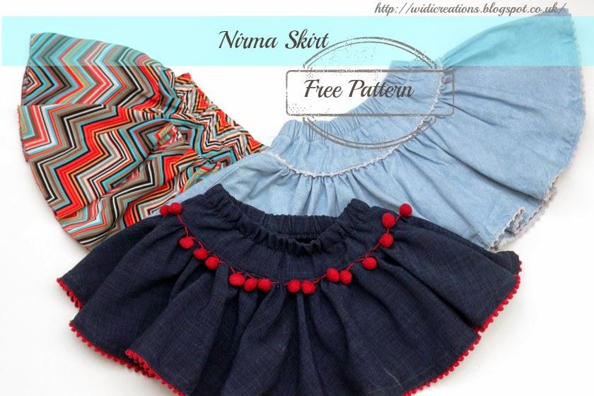 Free skirt pattern for girls