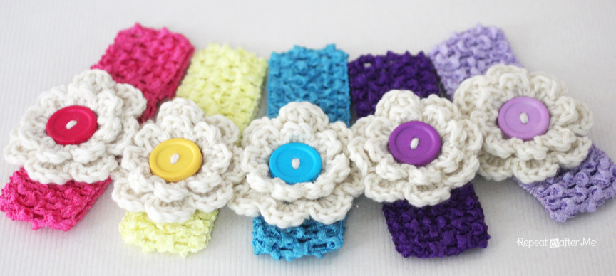 Crochet Hair Clips Repeat Crafter Me