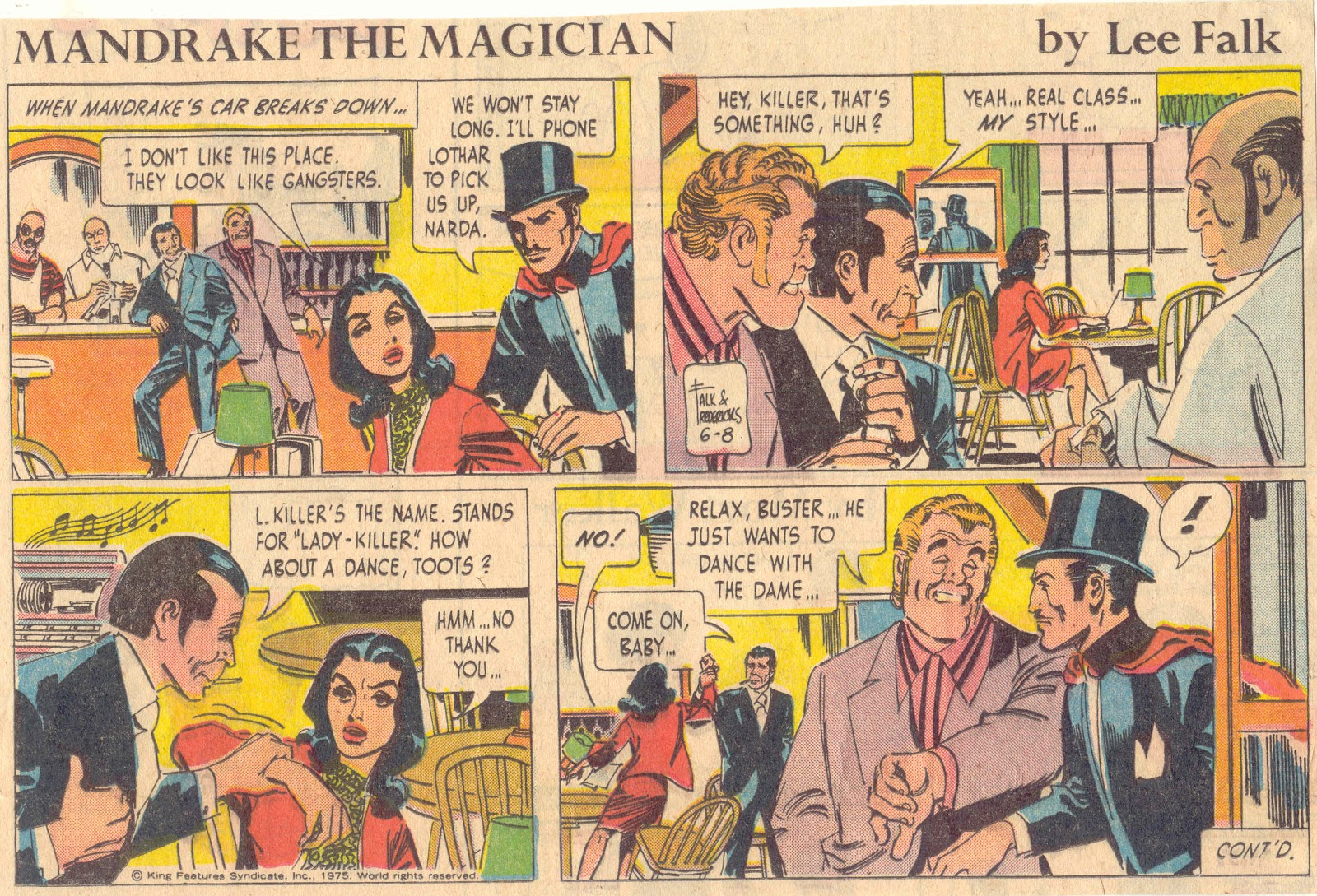 Comic strip magicien mandrake