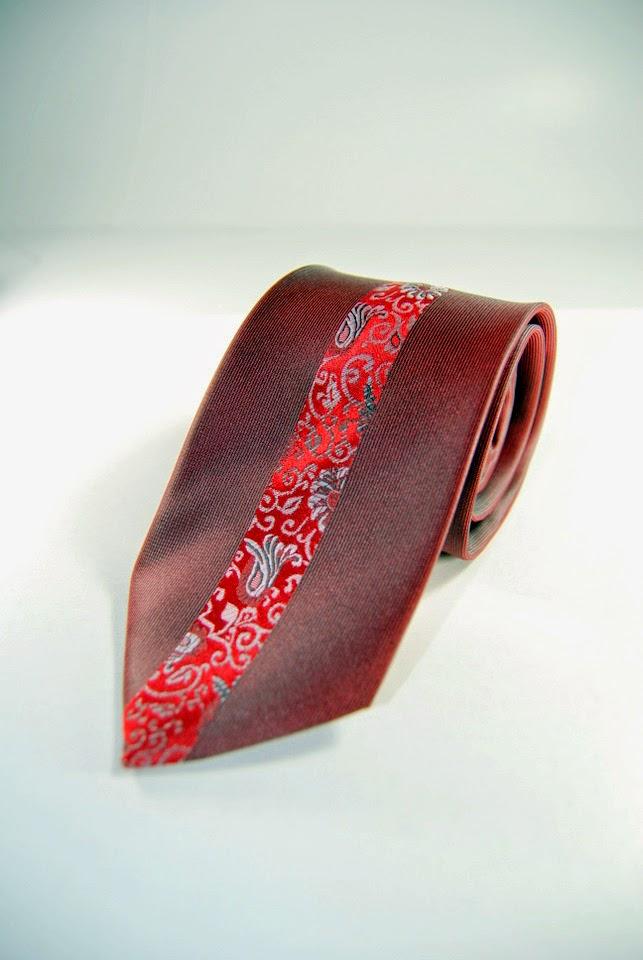 Maroon Skinny Paisley Tie