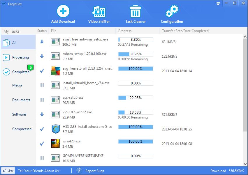 Eagleget Freeware Internet Download Manager