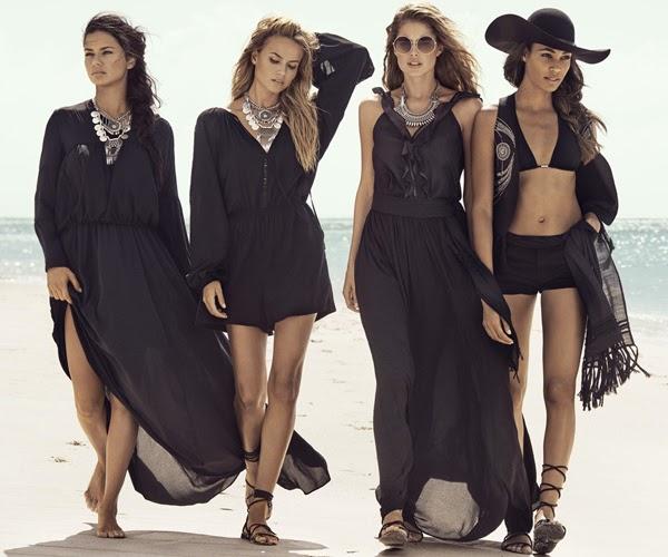 vestidos negros y short H&M moda verano