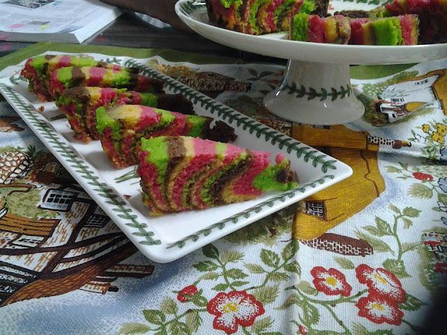 kek marble kukus