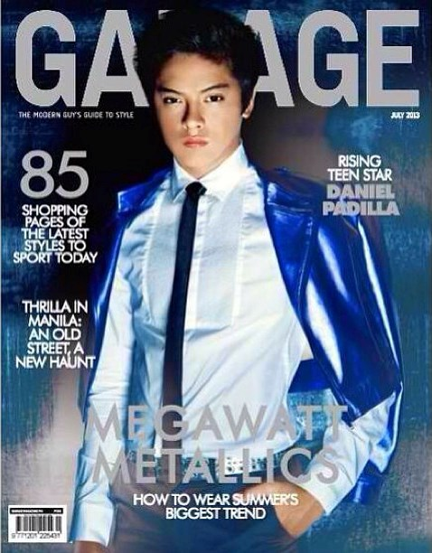 Daniel Padilla Dashing on Garage Magazine July 2013 Cover