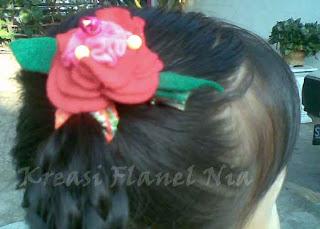 contoh jepit rambut flanel