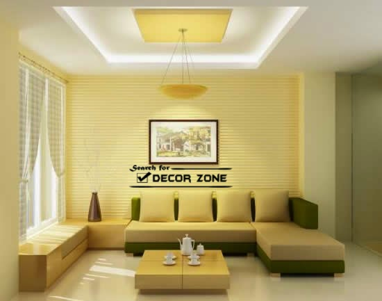 luxury false ceiling designs for living room made of POP - 25 Modern POP False Ceiling Designs For Living Room