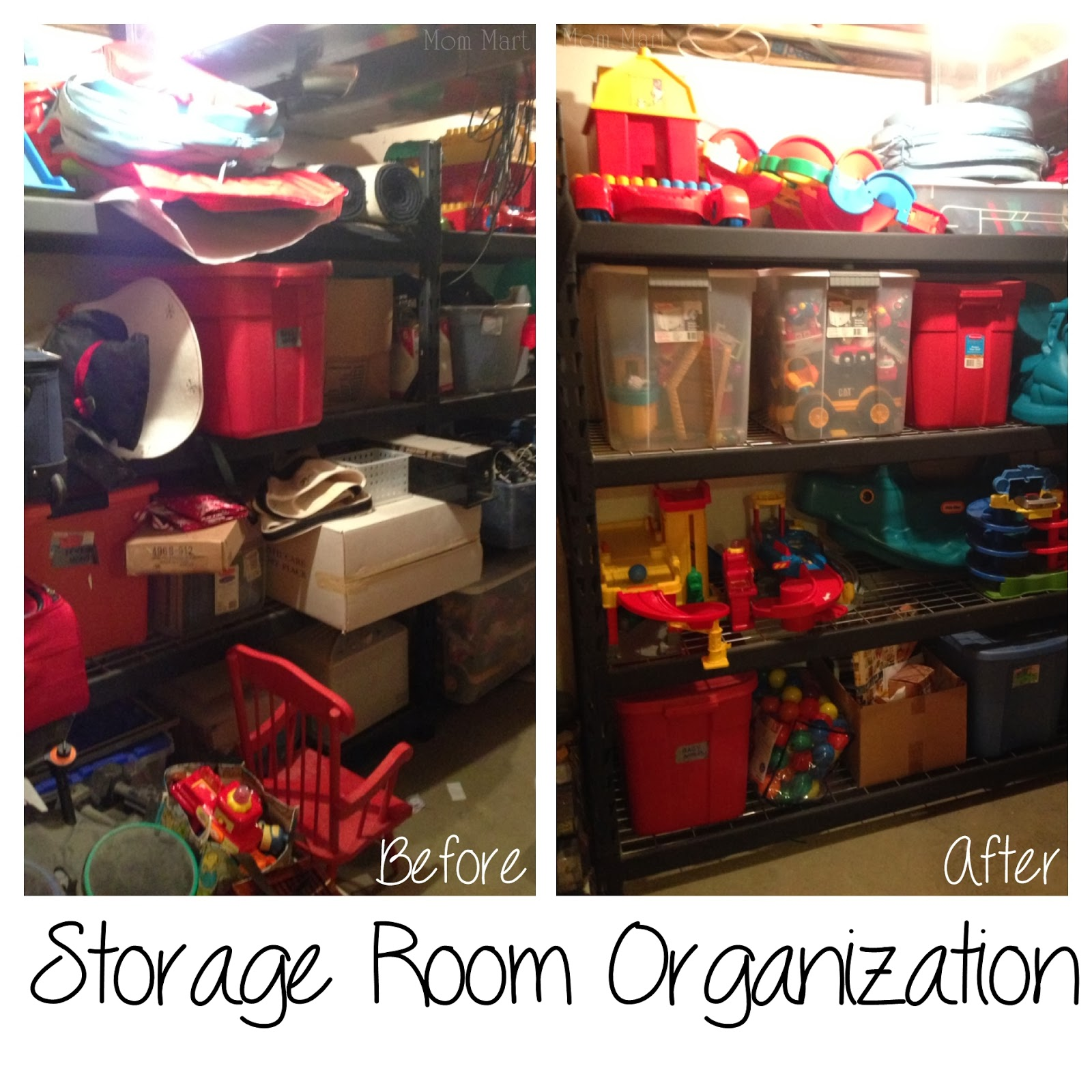 Storage Room Organization for Toy Rotation