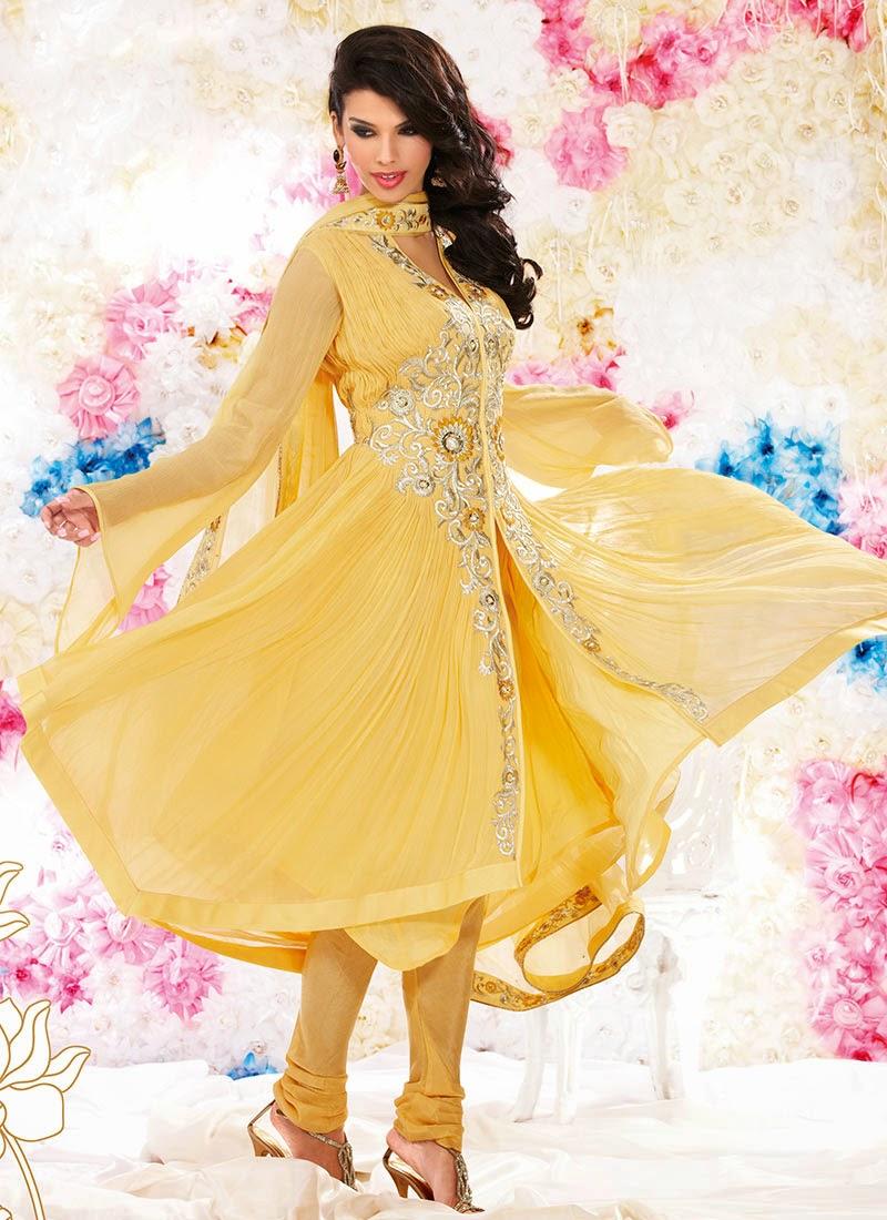 Bridal Anarkali Frocks Collection 2013 Beautiful Indian