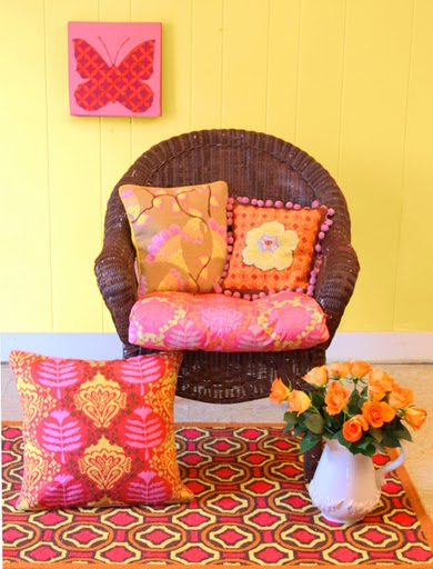 Pink yellow home decor feng shui color the tao of dana for Orange and yellow living room ideas