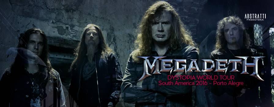 Megadeth retornando a POA/RS pela terceira vez!