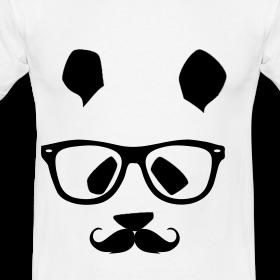 Mal's Shirts: Vintage Hipster Panda T Shirt