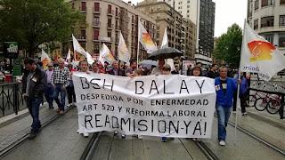 BSH Balay concentraciones todos los miércoles por la readmisión trabajadora