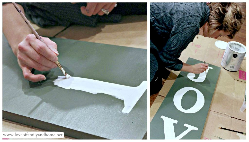 painted joy sign tutorial pinterest party with. Black Bedroom Furniture Sets. Home Design Ideas