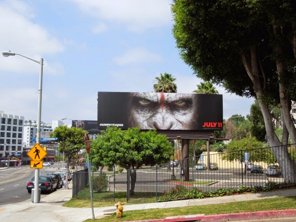Dawn of Planet of Apes movie billboard