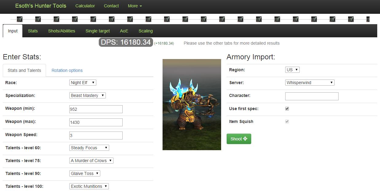 World of Warcraft hunter tools
