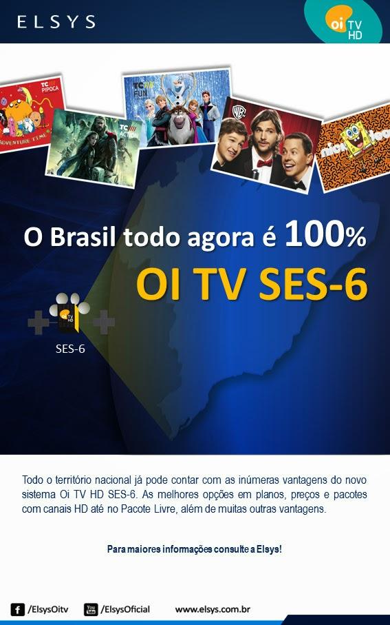 Oi TV Livre HD SES6 todas as regiões