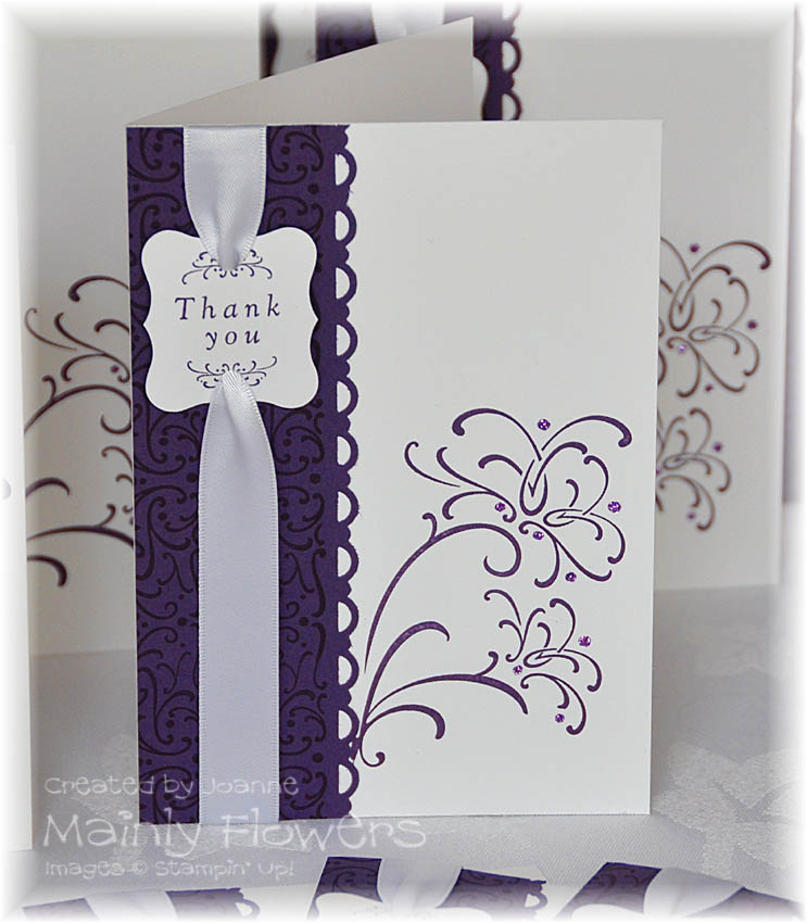 Wedding Gift Thank You Greetings : ... Stampin Up! Demonstrator Joanne Gelnar: Wedding Gift Thank You Cards