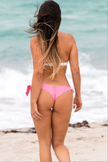 Claudia Romani Booty in Bikini on South Beach