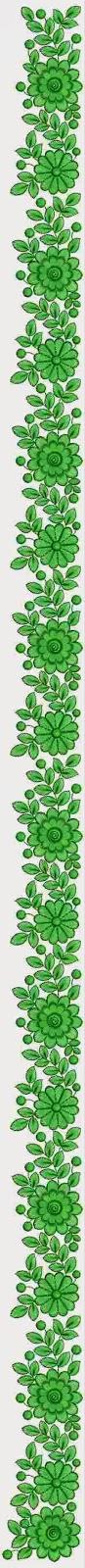 Lang groen kleur kulturele handwerk werk C Pallu sari