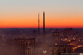 Ekaterinburg at sunset
