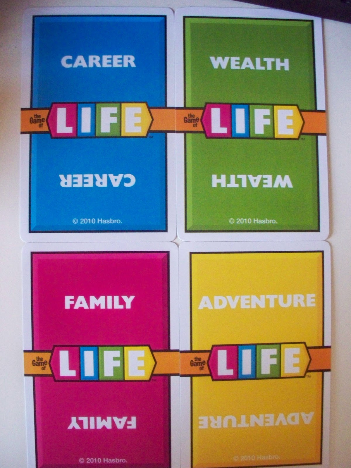 The Game Of Life Job Cards A New Leaf: The Gaming...