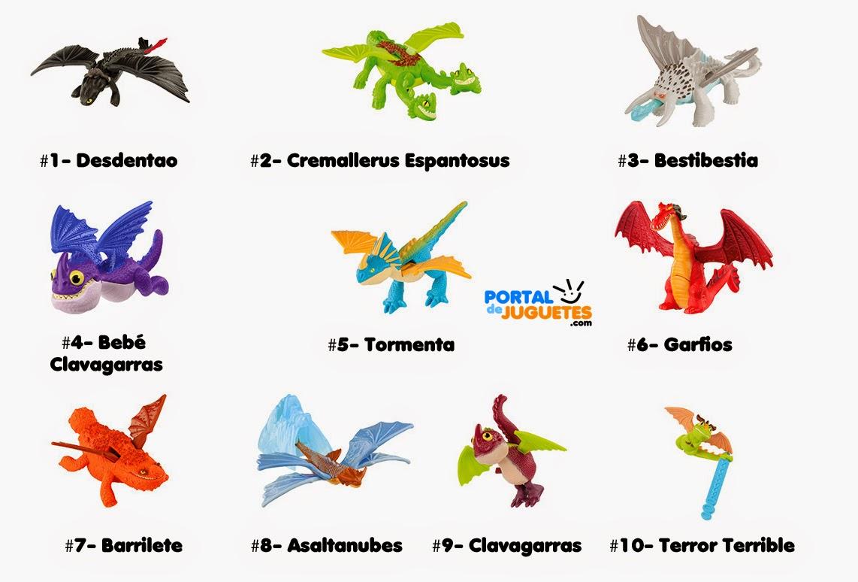 juguetes como entranar a tu dragon 2 Happy Meal McDonalds nombres