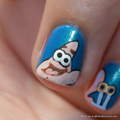 Favorite Underwater Animal / Starfish Patrick Nail Art 