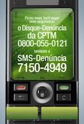 Colabore com a segurança na CPTM, SMS denuncia: