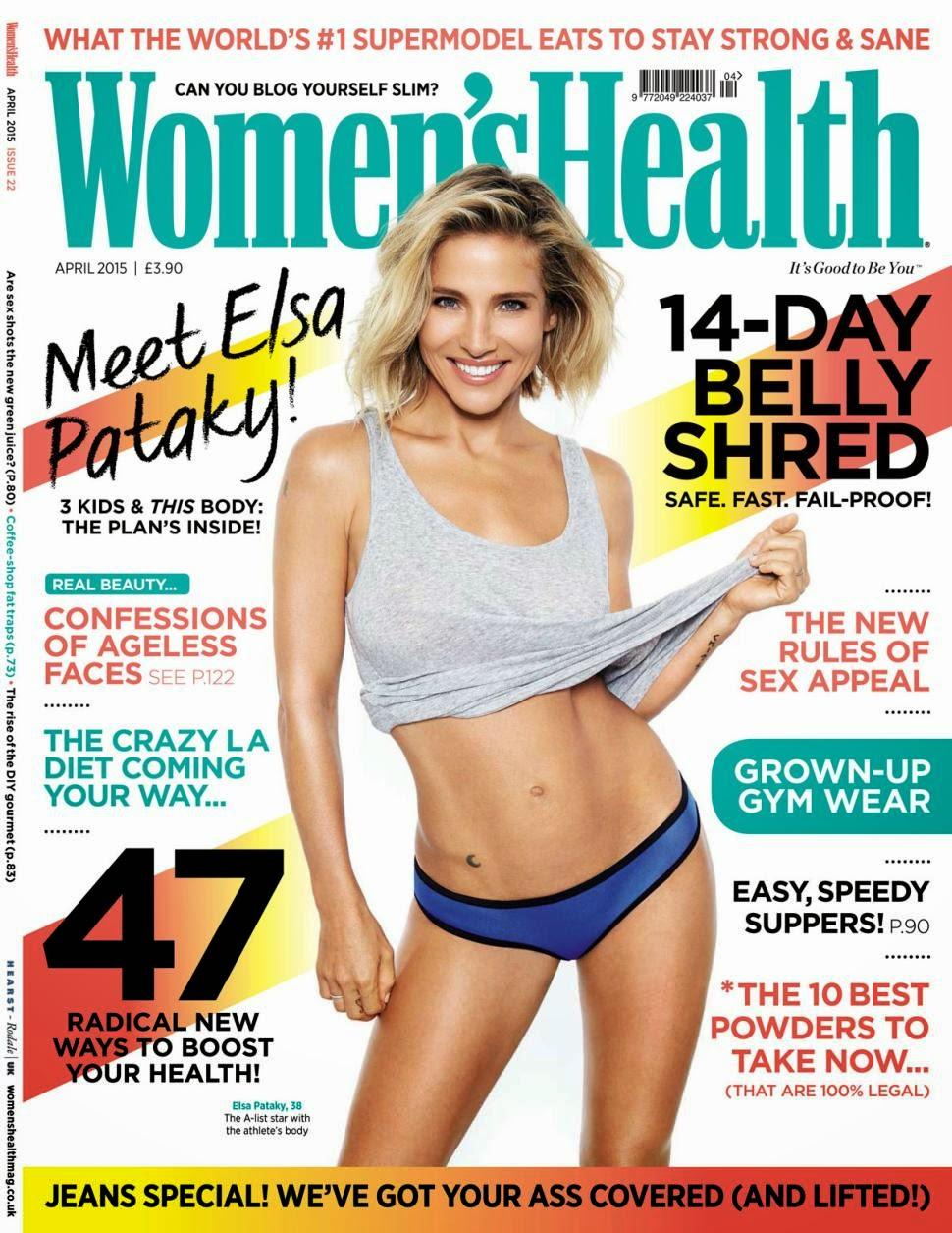 Model, Actress @ Elsa Pataky - Women's Health UK, April 2015