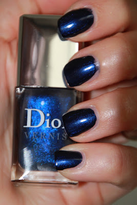dior vernis blue tie collection automne 2011 tuxedo 908 test avis essai blog swatch