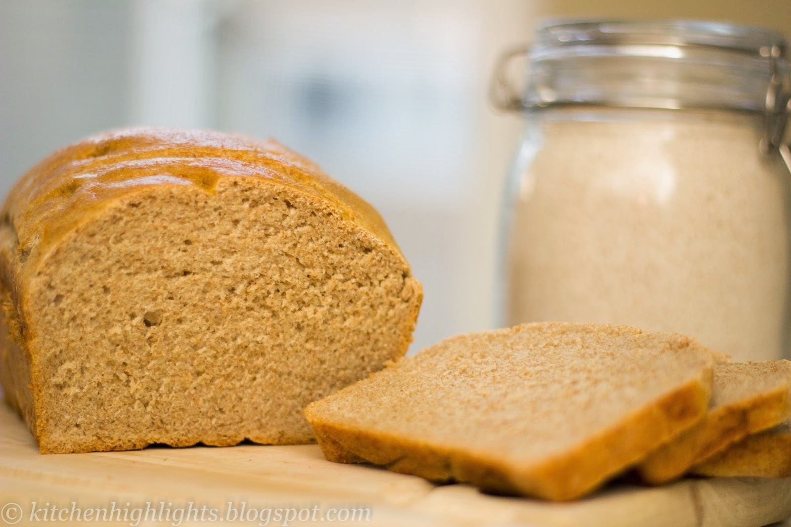 Whole wheat bread has a wonderful flavor, texture and aroma