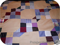 ProsperityStuff Dress Shirt Quilt Top in progress