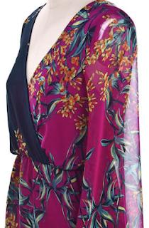 Retro Magenta Floral Dress