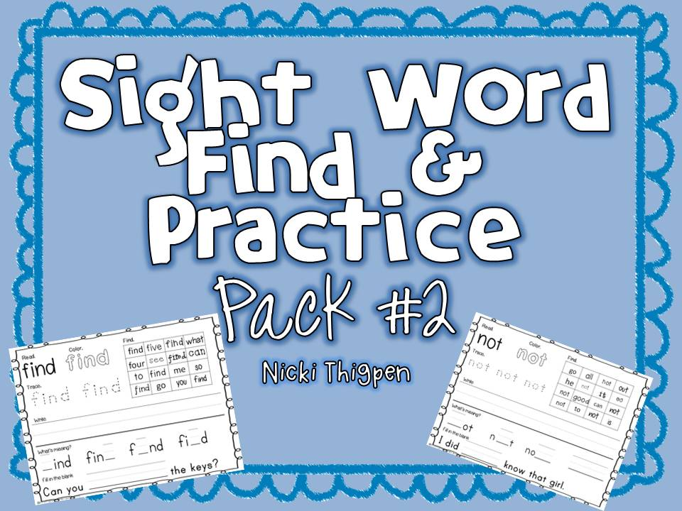 http://www.teachersnotebook.com/product/nickit/sight-word-find-amp-practice-pack-2