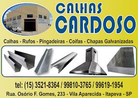 CALHAS CARDOSO Calhas, Rufos, Pingadeiras, Coifas, Chapas Galvanizadas