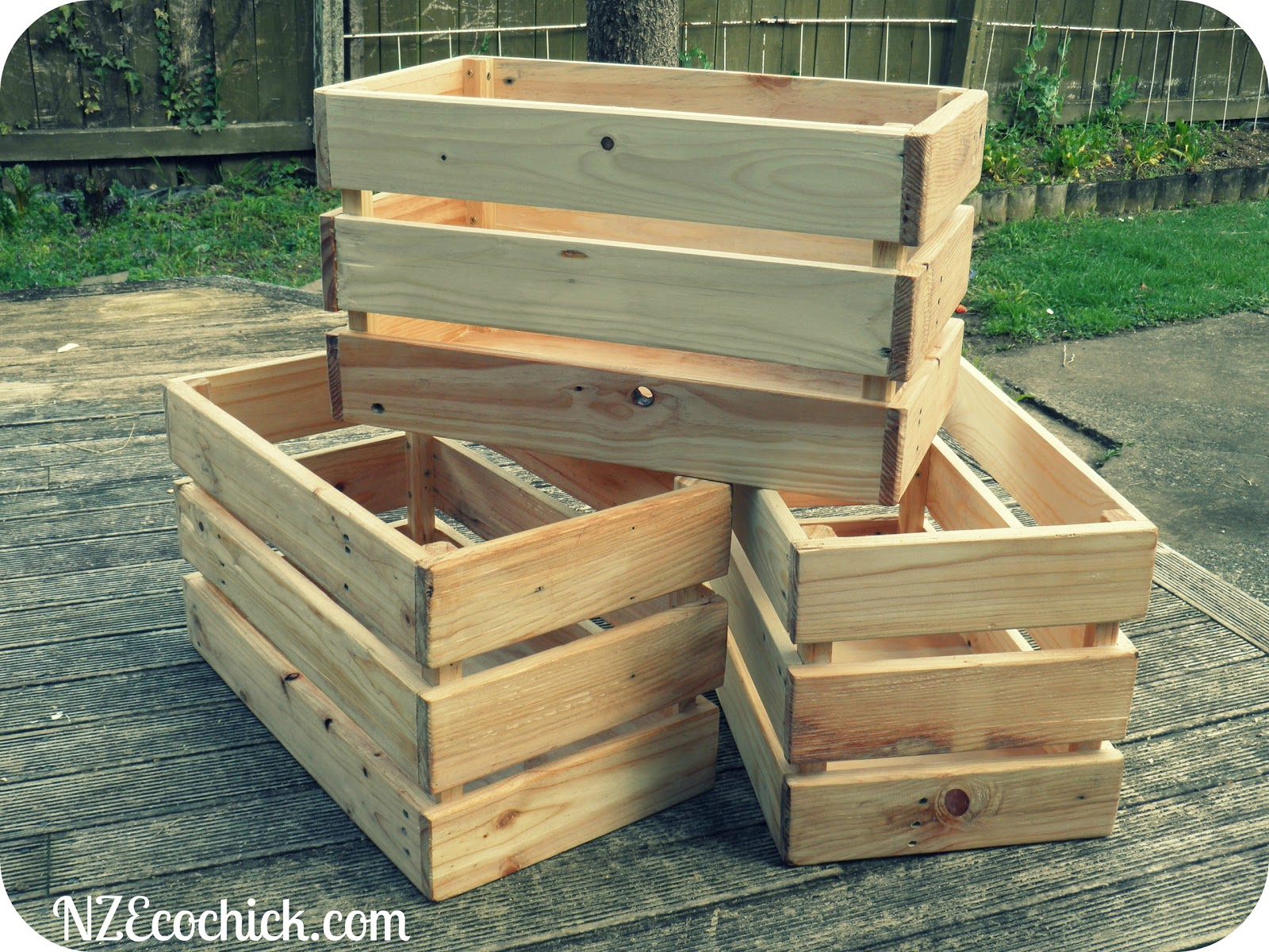 Pallet crates nz ecochick for How to make stuff out of wooden pallets