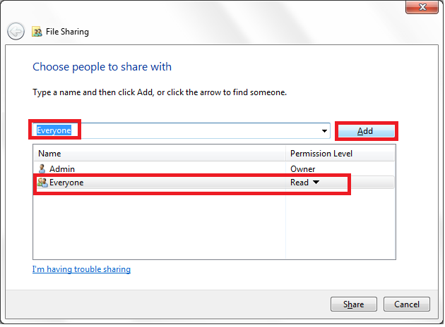 How to Share Folder and Files in Windows 7 and 8