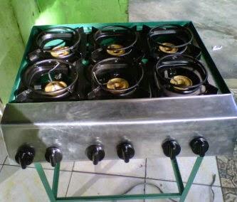Sentral Gas Kompor Gas Surabi 6 Tungku