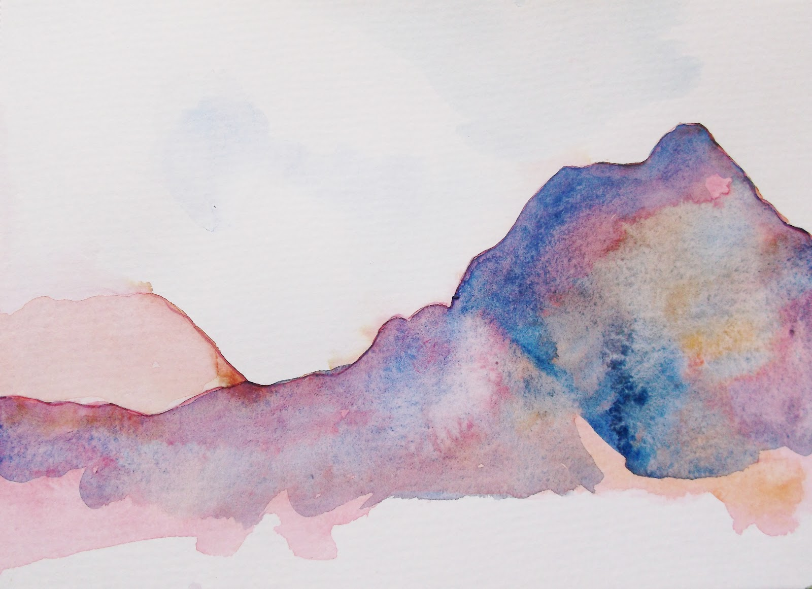 Line Art Watercolor : Primal marks koolau kualoa beach park