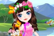 Çiçek Elbiseleri Giydirme Oyunu