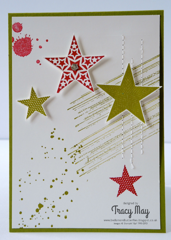 stampin up uk Simply stars card independent demonstrator Tracy May card making ideas