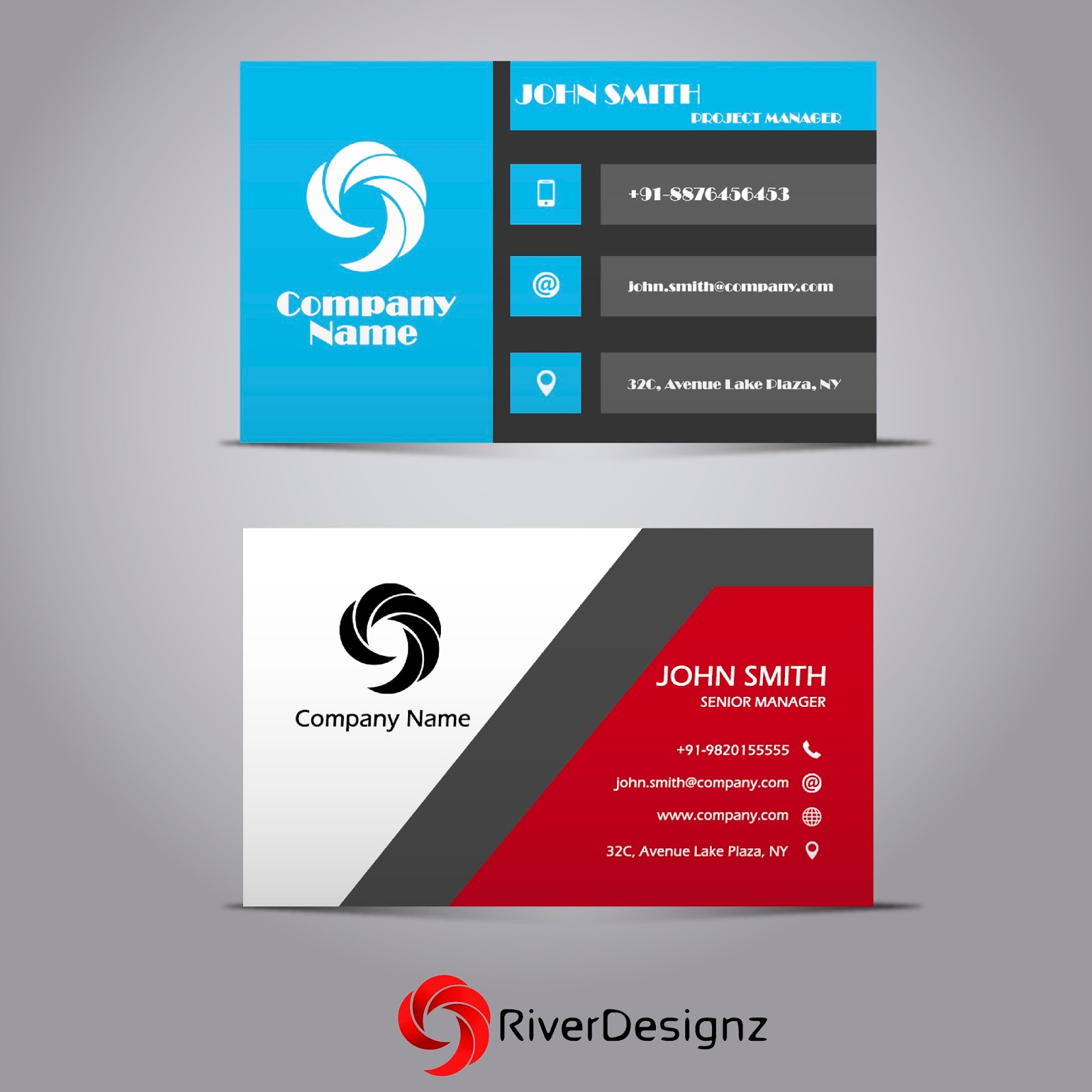 River designz creative modern professional business card designs colourmoves
