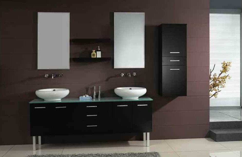 Modern vanities modern bathroom vanities double - Contemporary double sink bathroom vanity ...