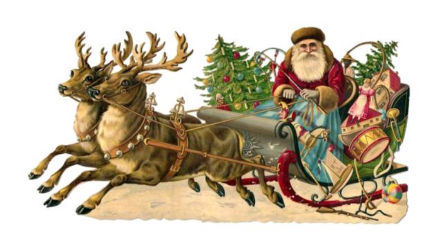 papa noel navidad victoriano