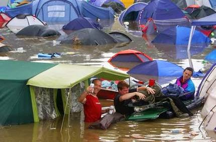 how to put up a tent in the rain
